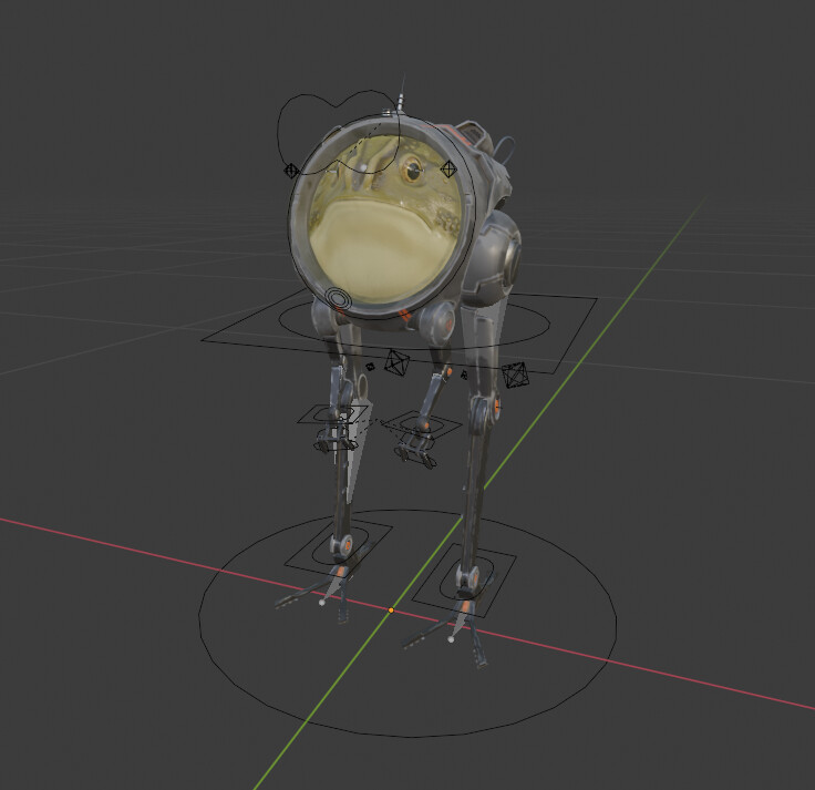 Rig in object mode in Blender