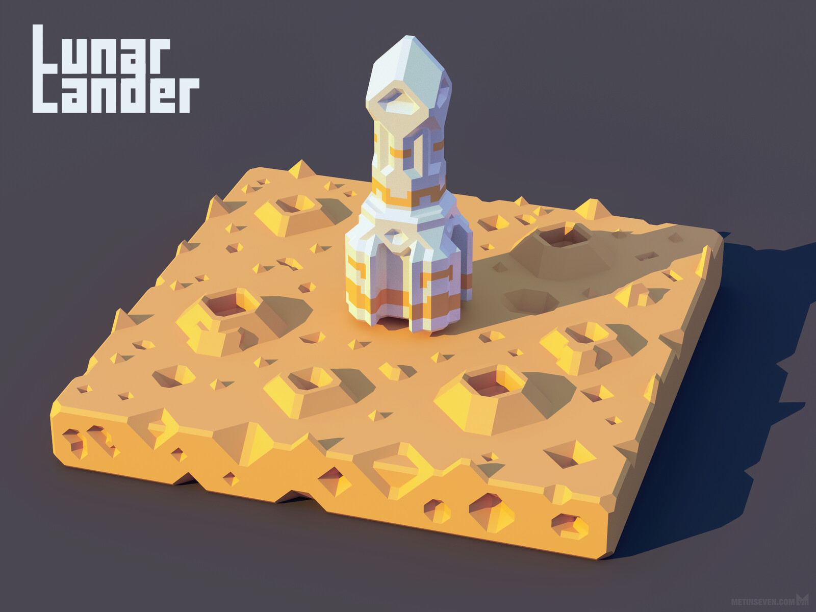 Low-polygon 3D artwork