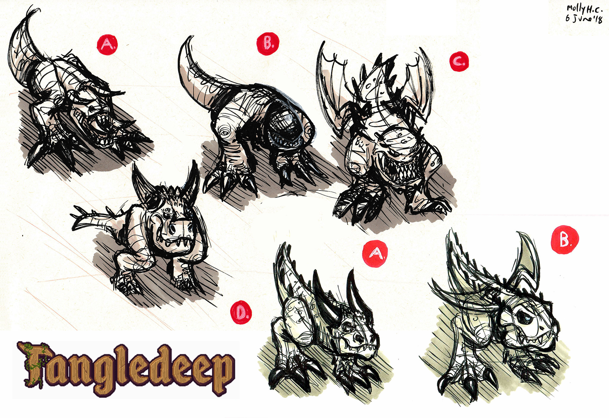 """Creature design for RPG """"Tangledeep"""". Commissioned by Impact Gameworks (http://tangledeep.com/)  © 2018"""