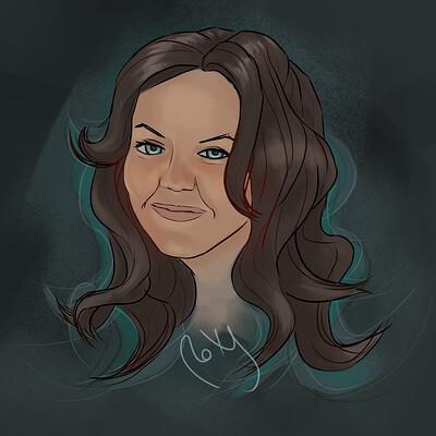 Roxane lapa stylizedportrait