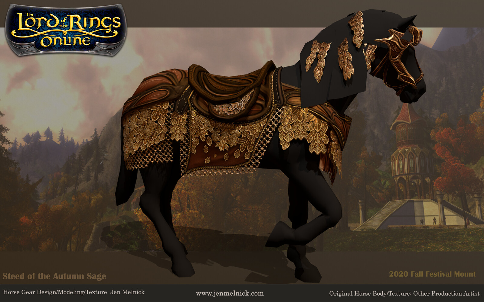 2020 Fall Festival Mount Steed of the Autumn Sage Marmoset Render