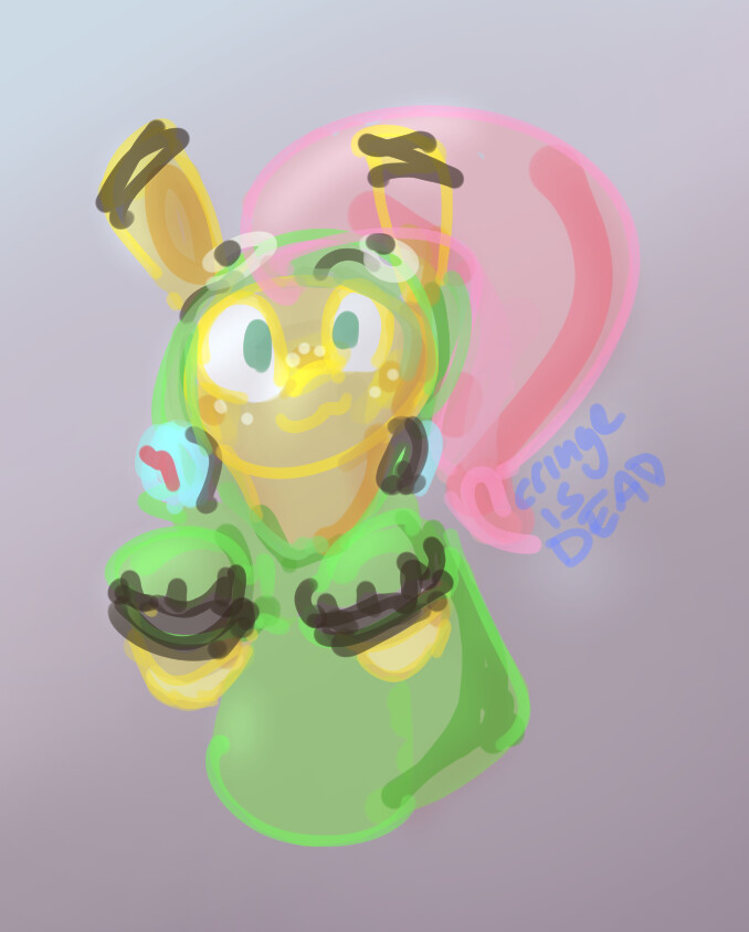 Sketch inspired by Vylet's song Antonymph: https://youtu.be/CNPdO5TZ1DQ Character design by Klez: https://twitter.com/voreburger