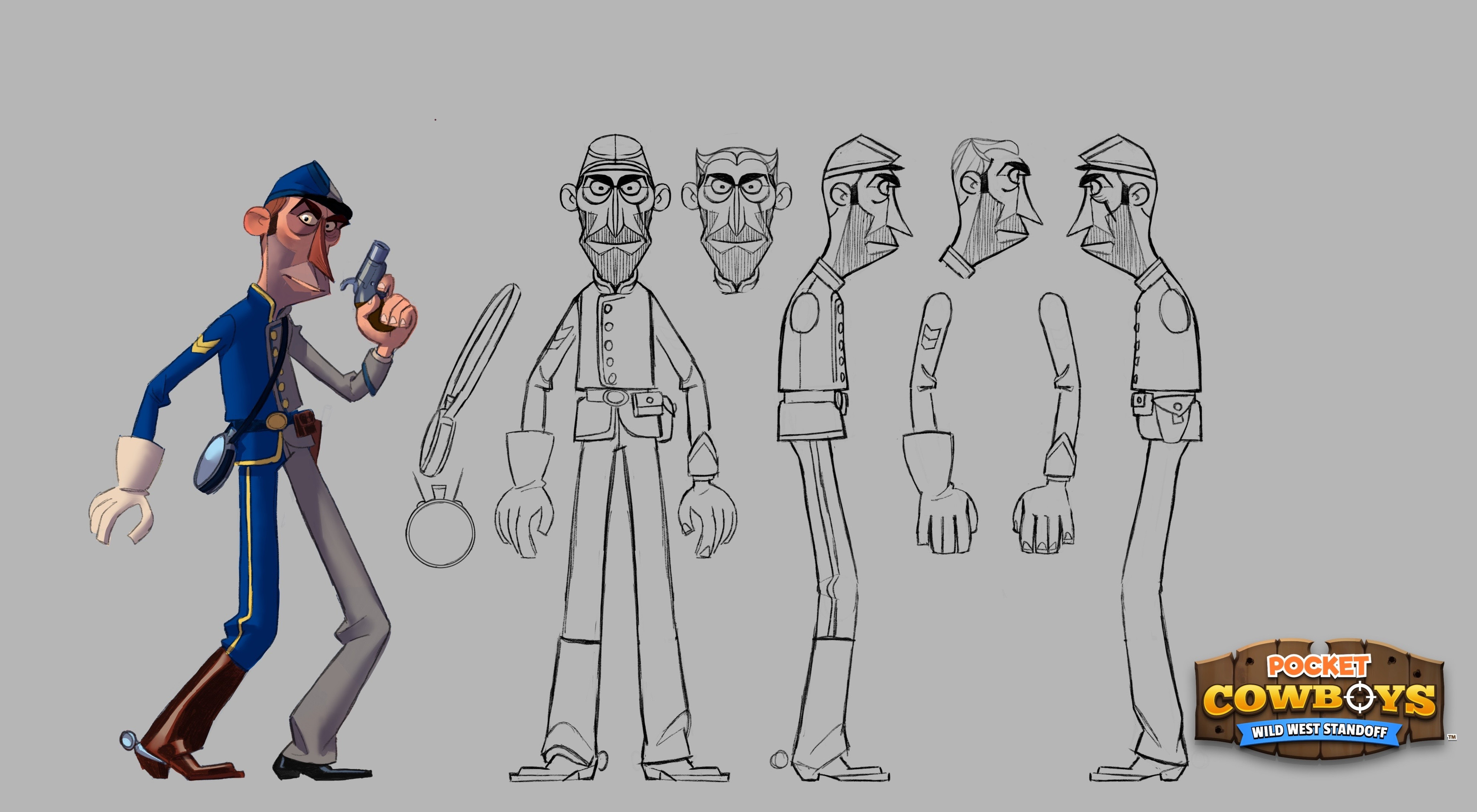 Pocket Cowboys! I was lucky enough to be the main character designer on this cool game.