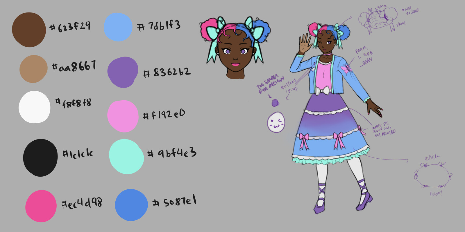Final design character sheet