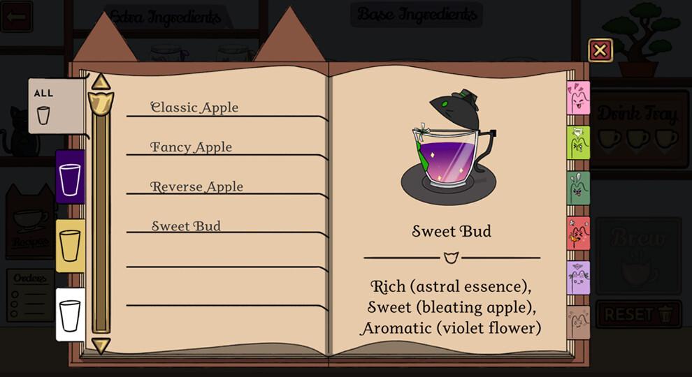 Final recipe screen in-game