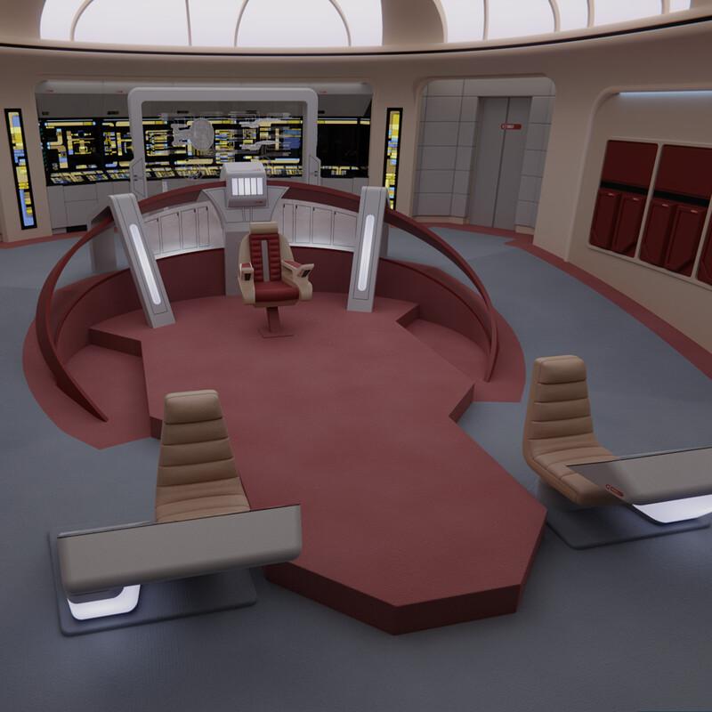 USS Enterprise-D Bridge - 'Parallels' Version N°2
