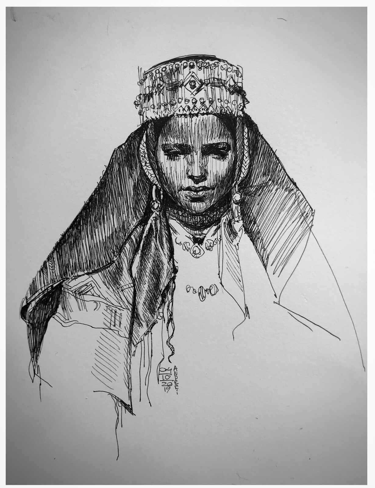 Traditional study of Moroccan girl