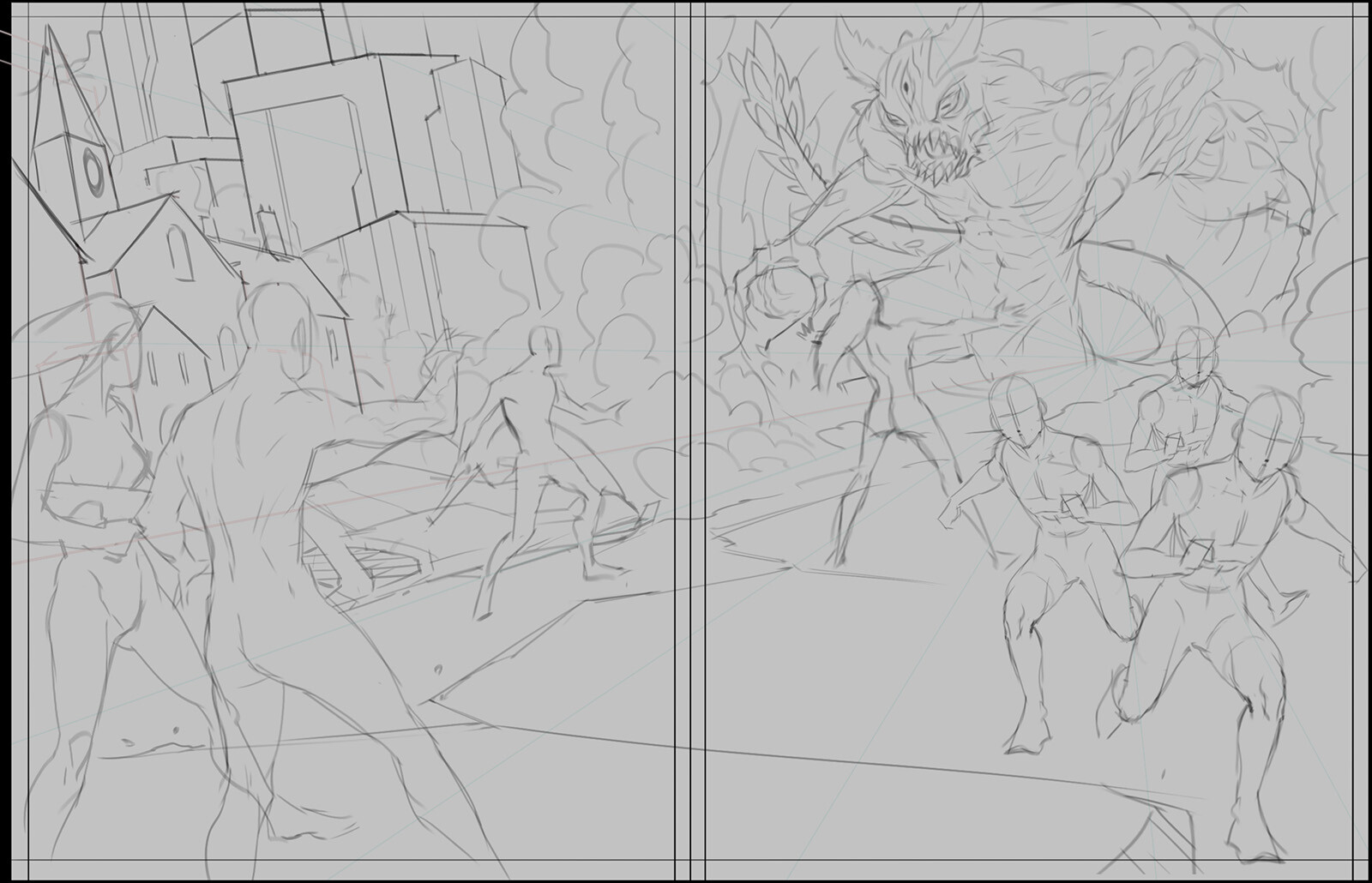 Rough composition and character placement