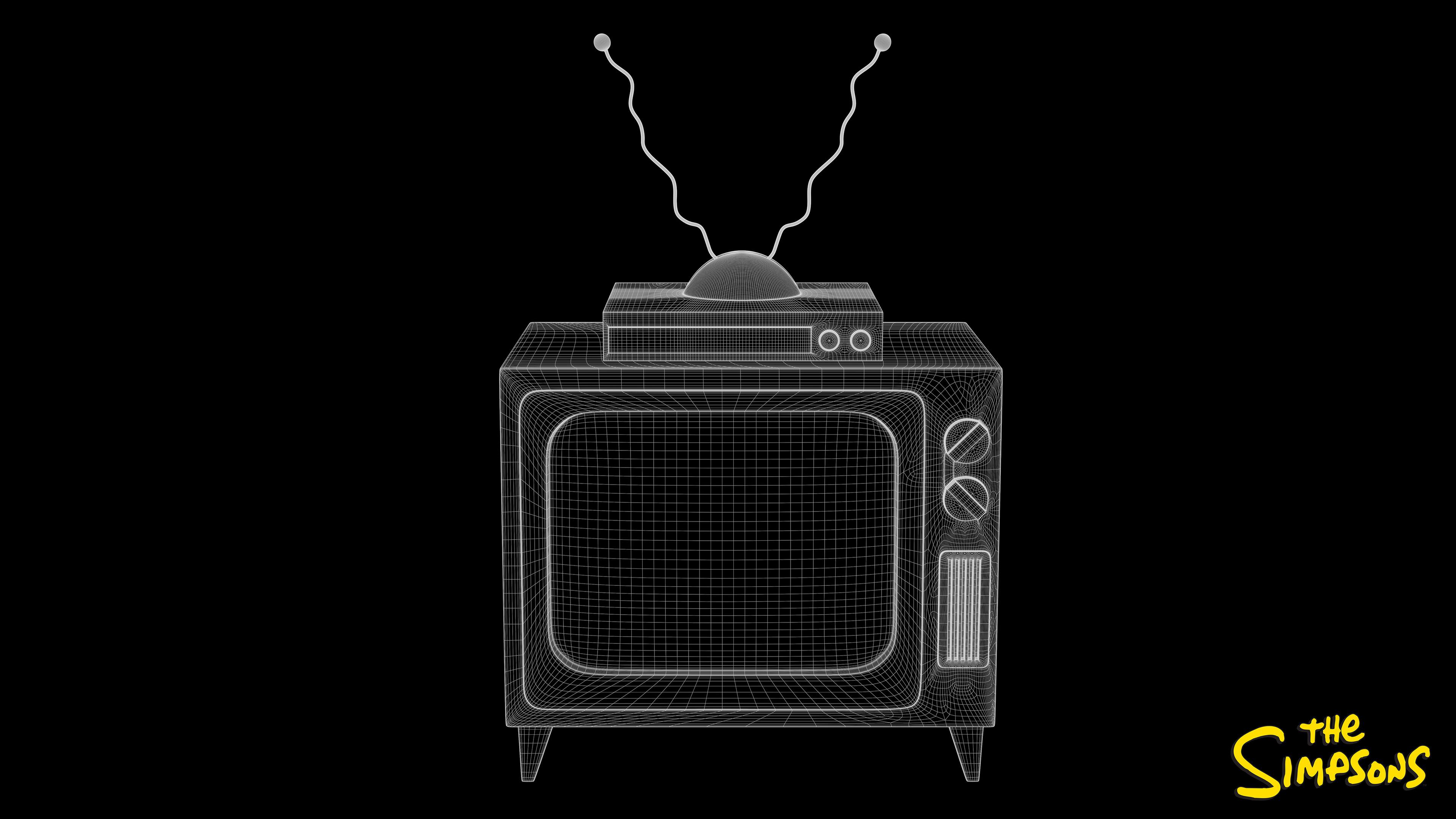 Television Set Wireframe