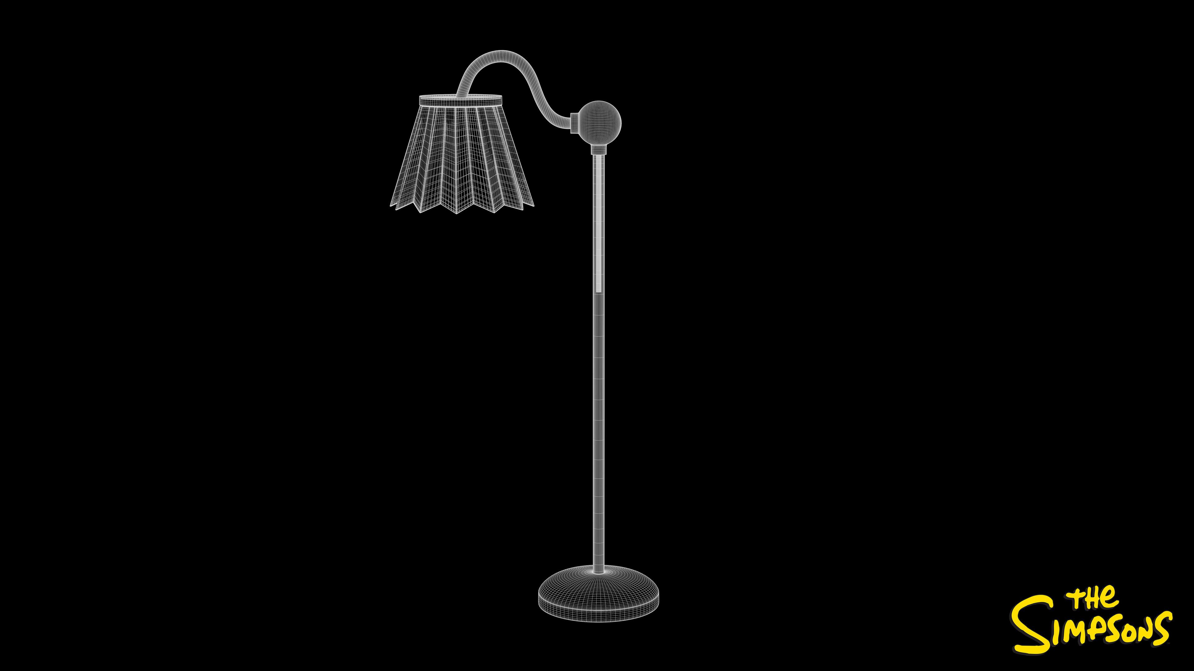 Floor Lamp Wireframe