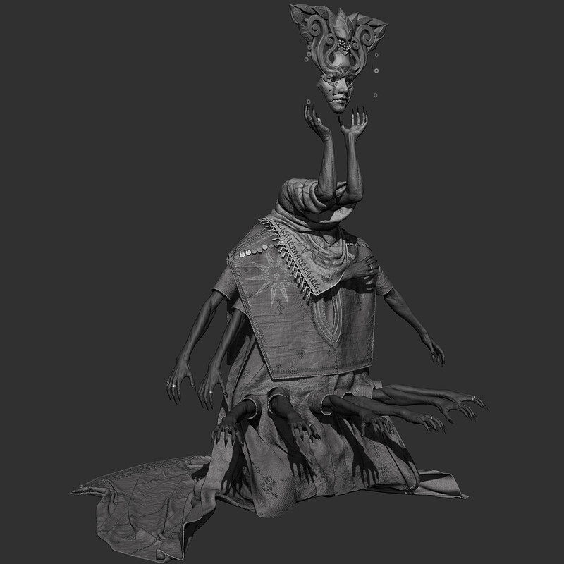 Undead Mystic - High poly