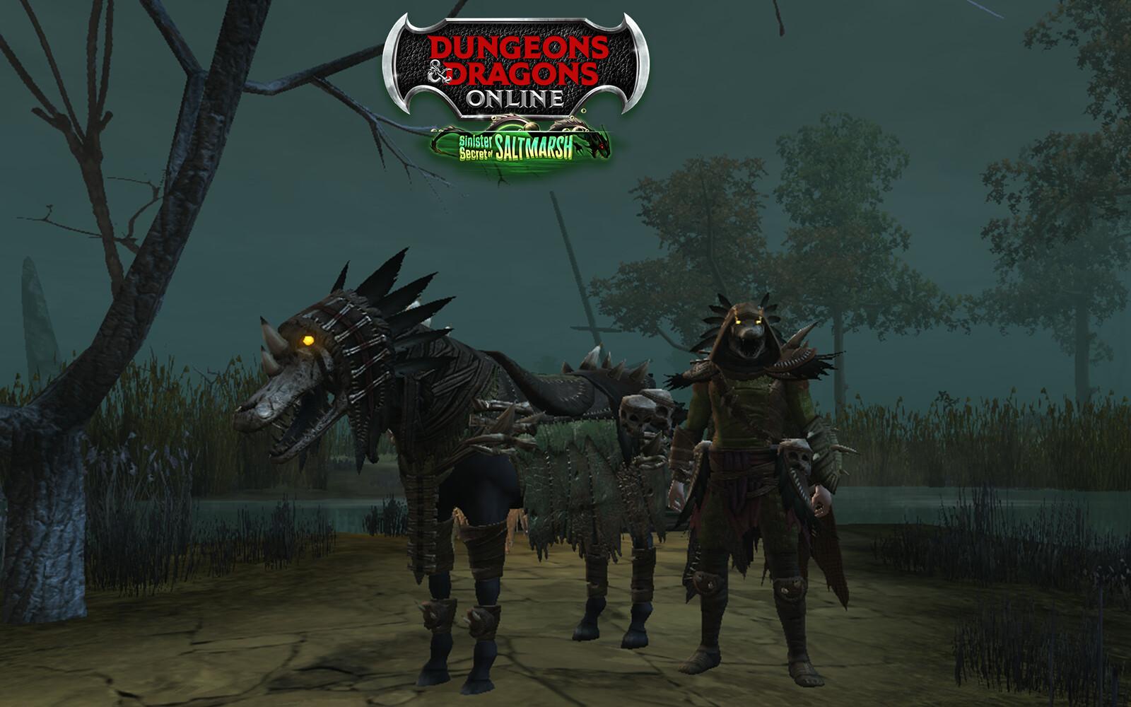 Dungeons and Dragons Online Lizardfolk Cosmetic Set and Mount Sinister Secrets of Saltmarsh Mini-Expansion 2021 Ultimate Fan Bundle Reward In-Game Screenshot