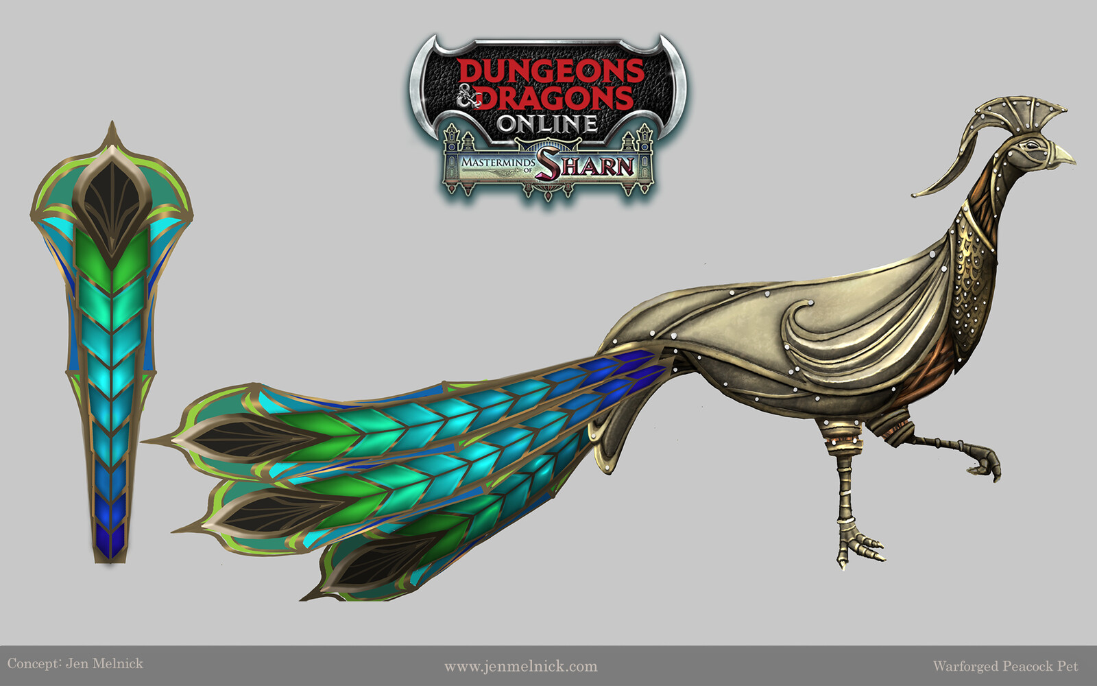 Warforged Peacock Pet Dungeons and Dragons Online Masterminds of Sharn Expansion  Ultimate Fan Bundle Pet Reward Concept