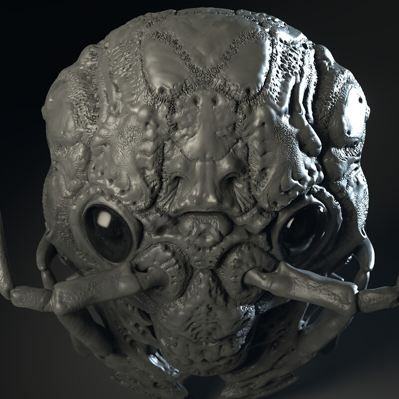 Monster Insect Head