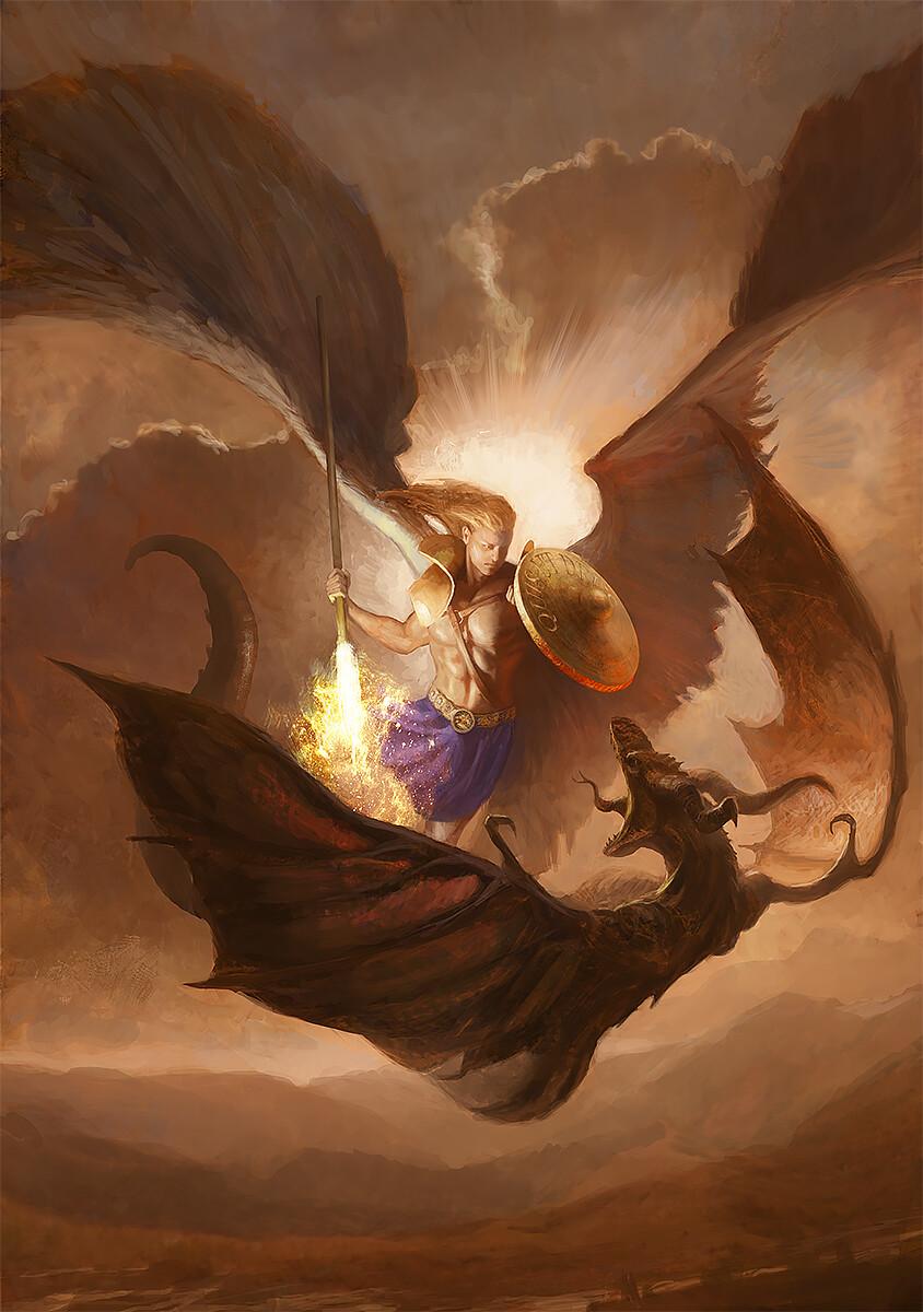 Archangel Michael fighting the devel.