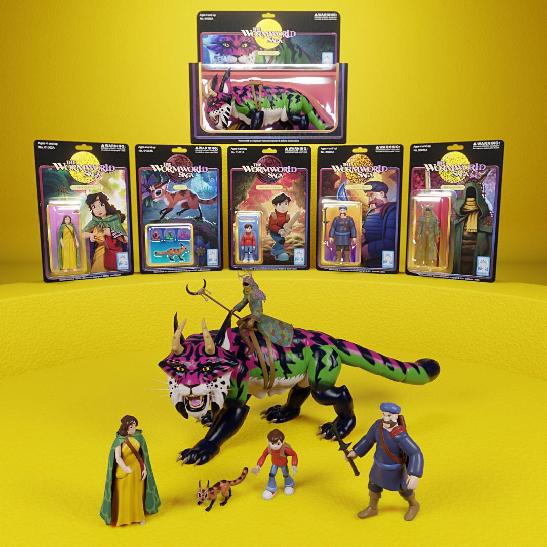 The Wormworld Saga Digital Action Figures - Season 1