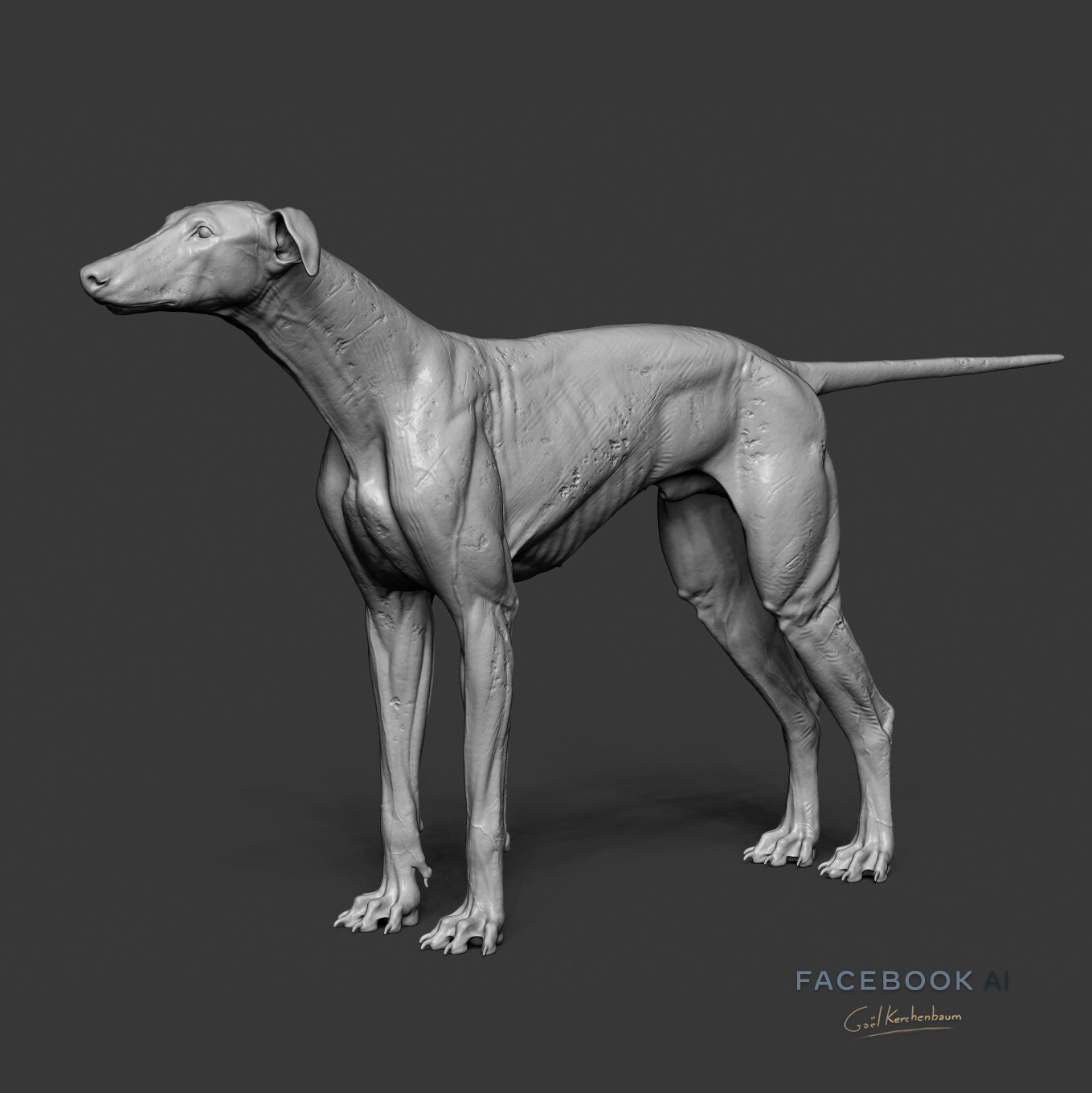 cracks and texture added in ZBrush for look dev