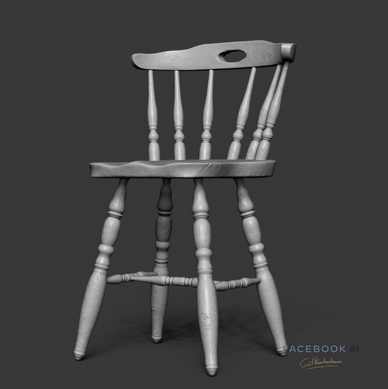 Chair asset, done in ZBrush