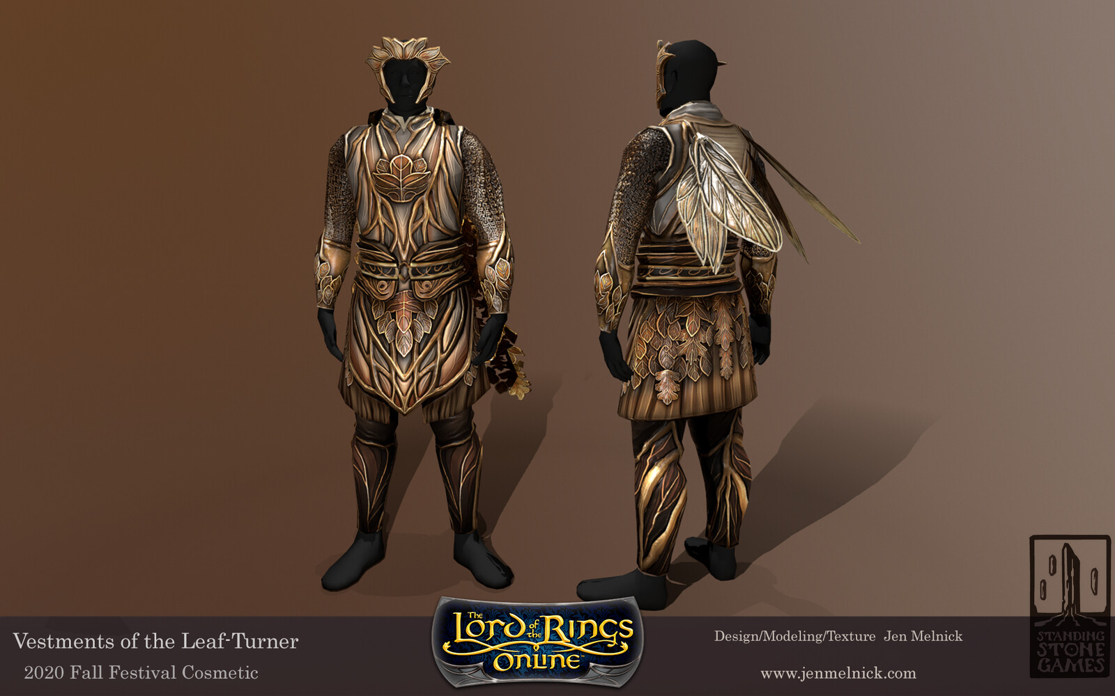Lord of the Rings Online Vestments of the Leaf-Turner Tunic of the Leaf-Tuner, Mask of the Leaf-Turner, and Cosmetic Bee Wings Fall Festival 2020 Tunic and Mask are Dyeable  Alternate Fall Festival Chest piece and Helmet