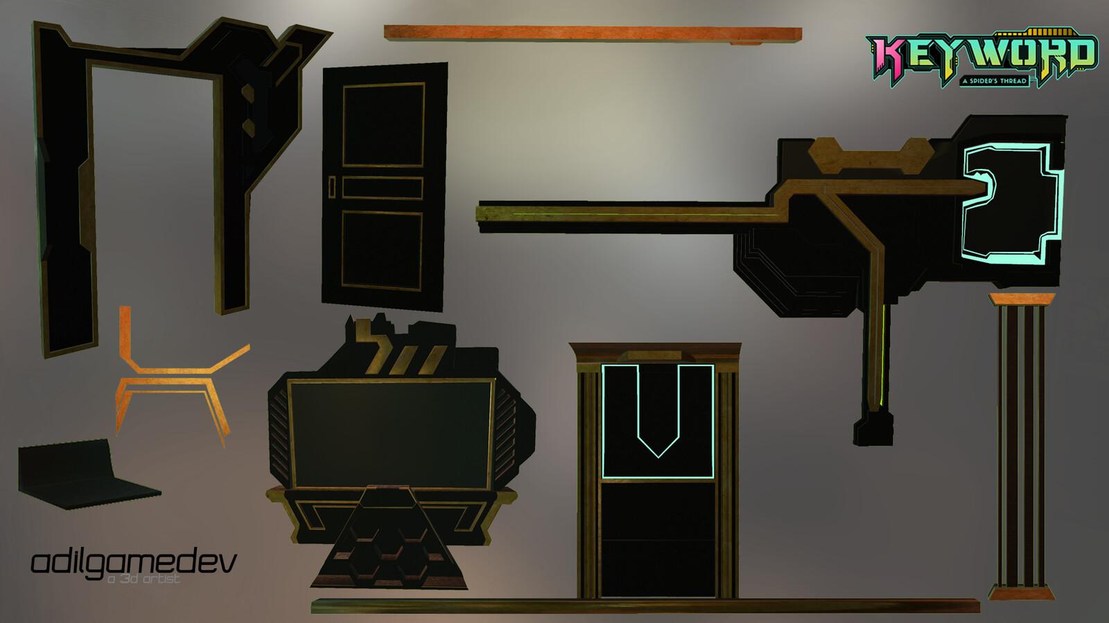 some trimsheet architecture pieces