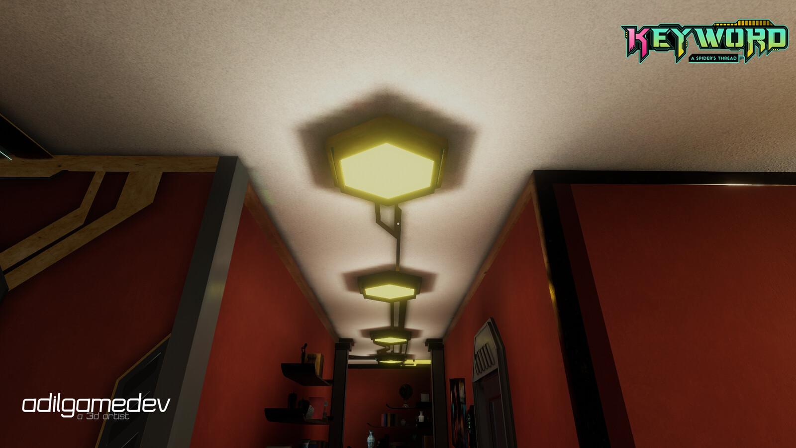 Ceiling light props