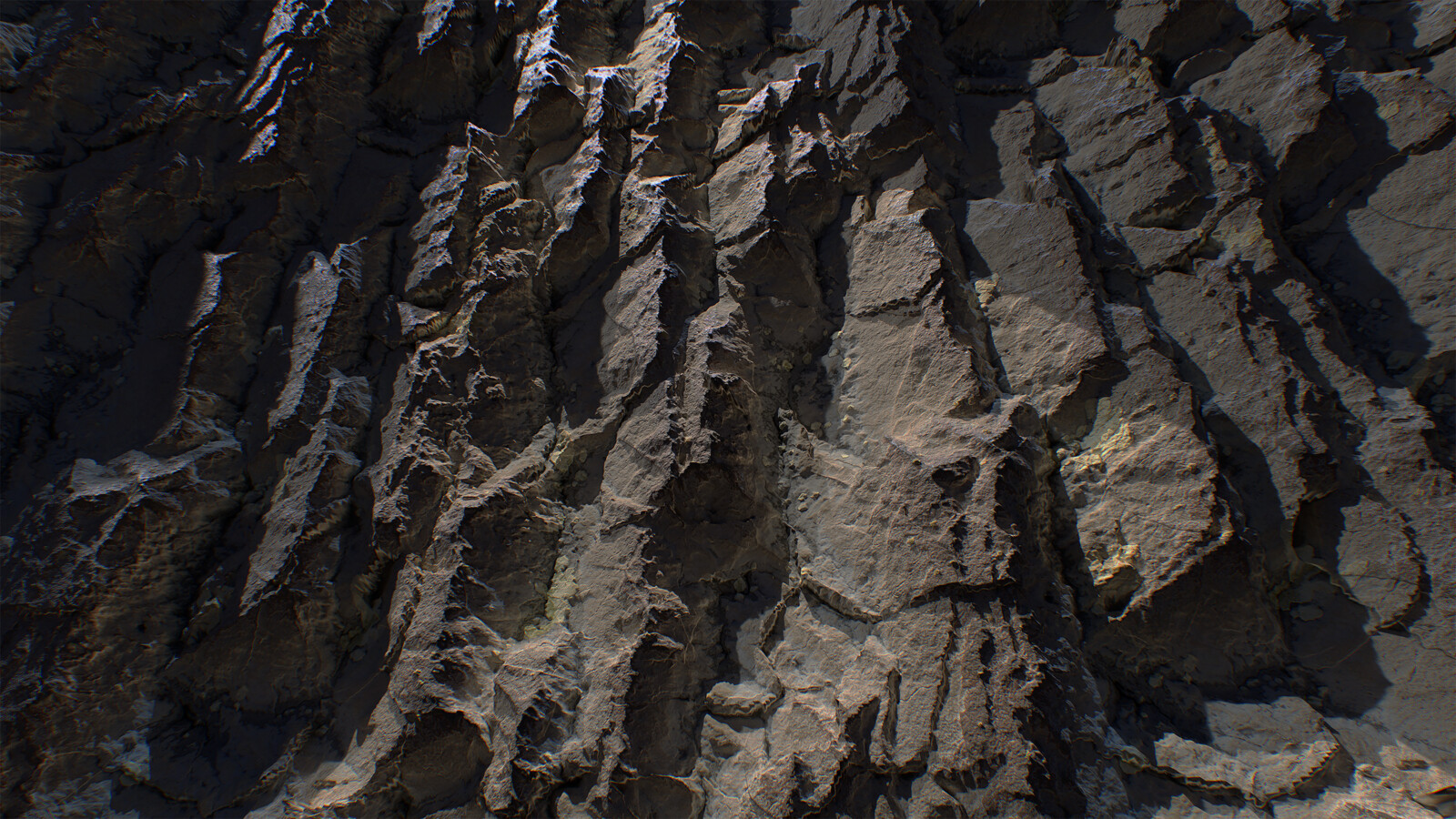 Sharp Cliff Study made 100% in Substance Designer and rendered in Marmoset Toolbag 4.