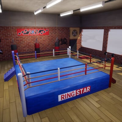 Mokazar boxe sport room interior 2