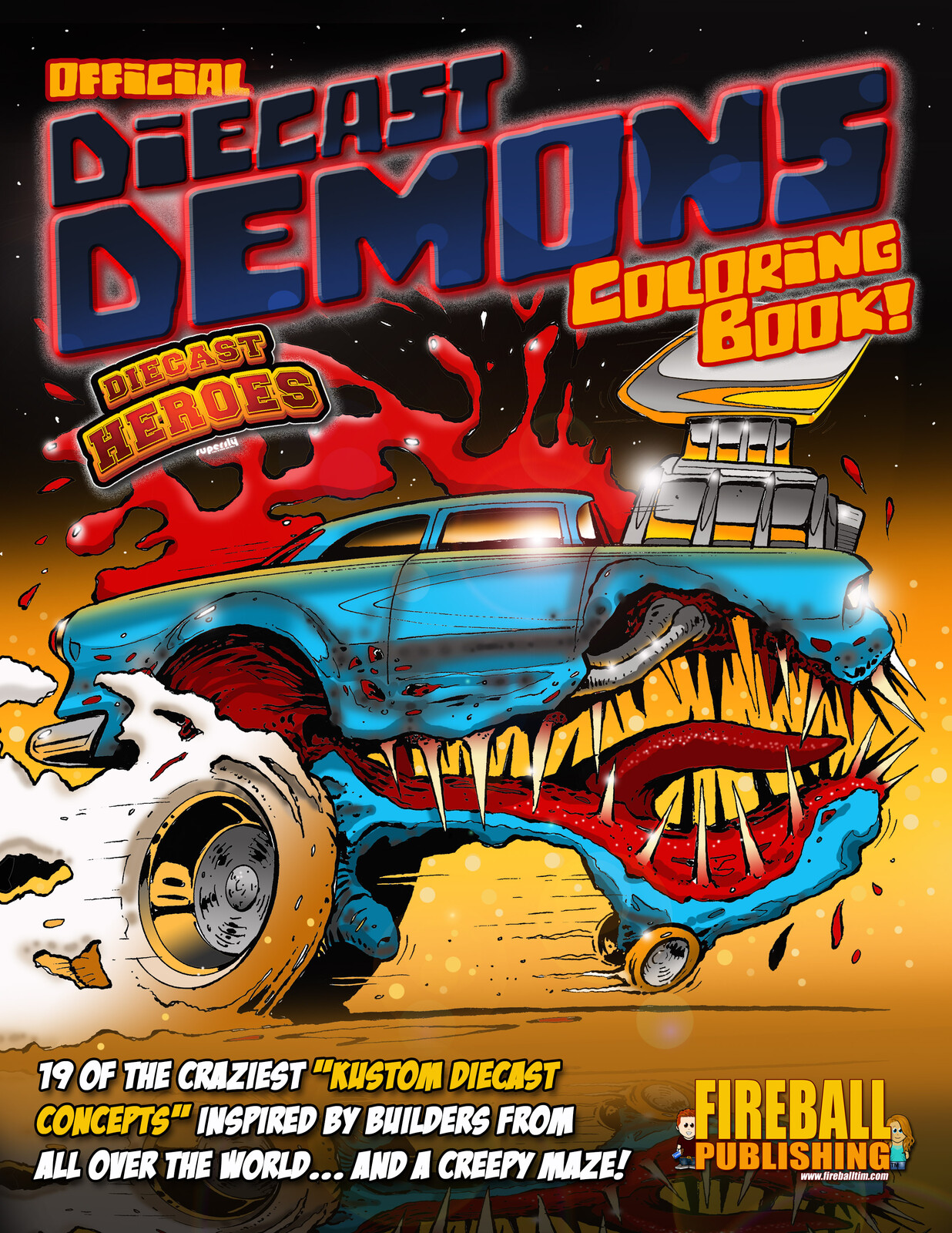 Official DIECAST DEMONS Coloring Book