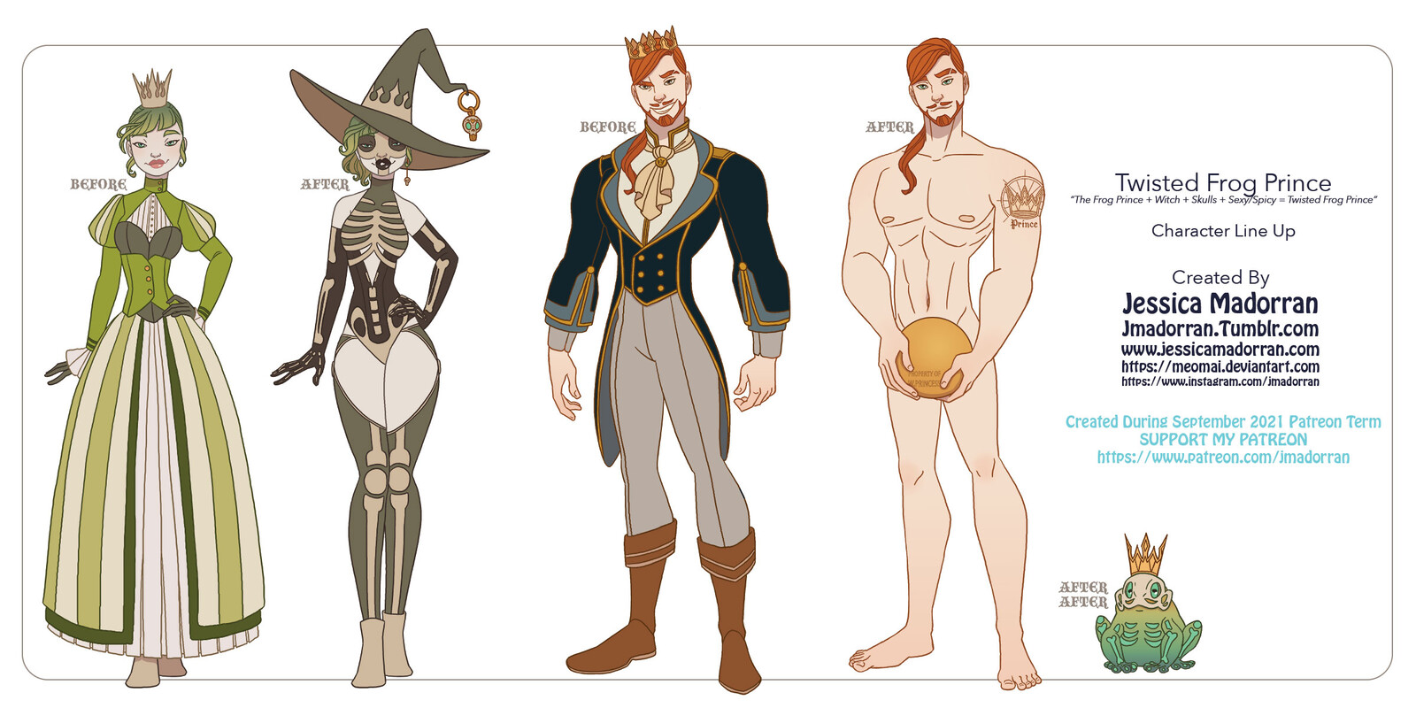 Patreon September 2021 - The Frog Prince Character Line Up