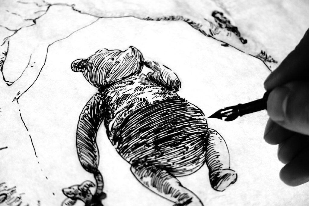 PL - praca nad pierwszą ilustracją tuszem ENG - first ink illustration WIP