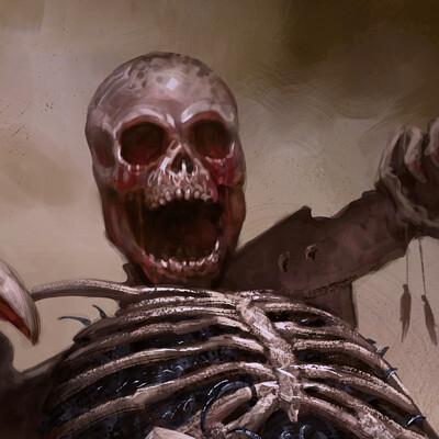 Jacopo schiavo blood skeletonartst