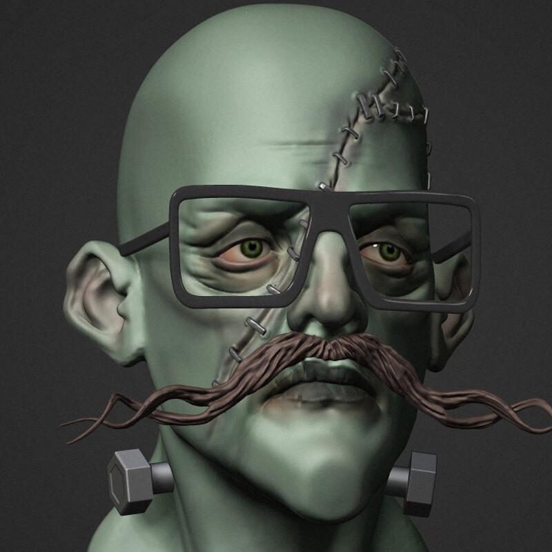 Frank the Hipster (speed sculpt)