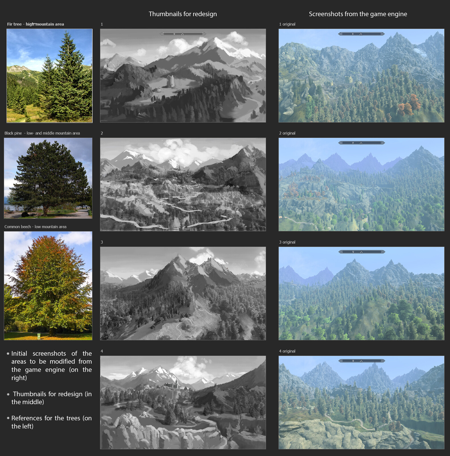 My task was to tweak landscapes from the game engine to add more visual interst