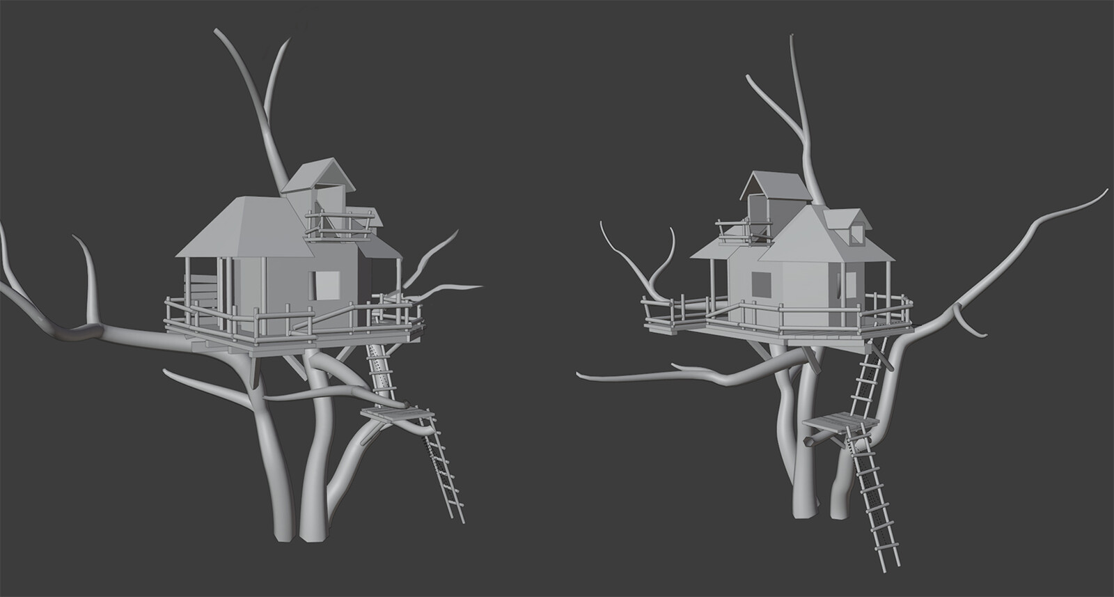 House on a tree- 3d sketch