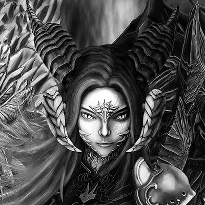 DragonSong InnerTurmoil - Black and White Version