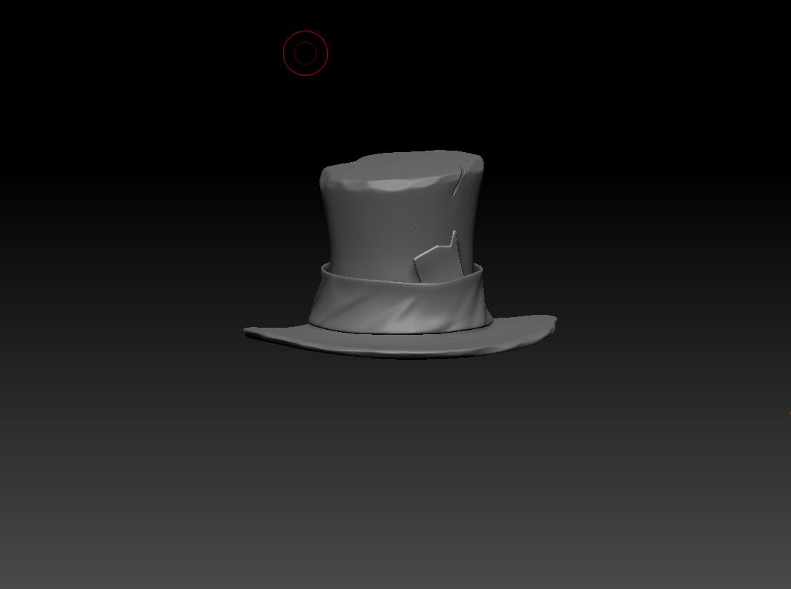 hat high poly sculpt