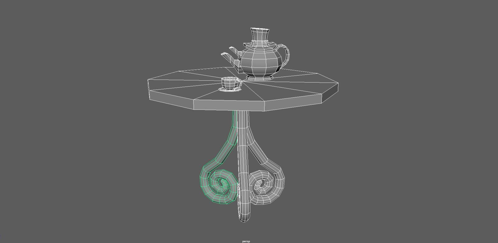 Initial model created in Maya