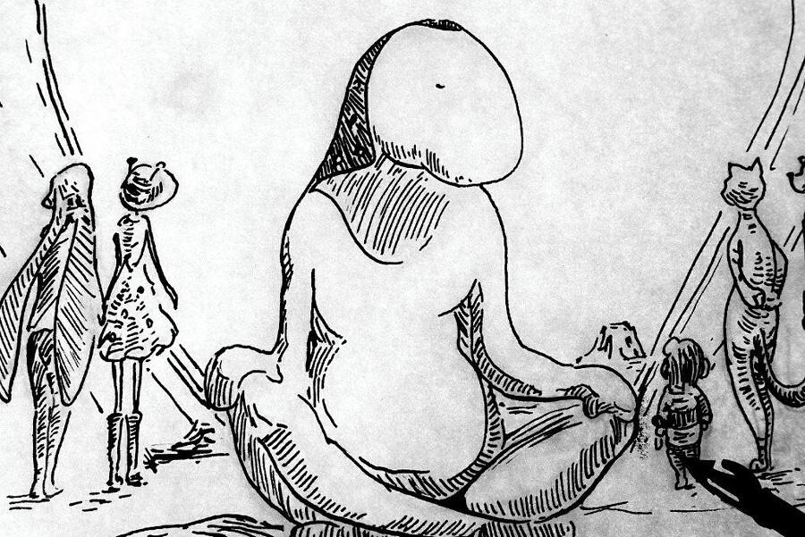 PL - praca nad trzecią ilustracją tuszem ENG - third ink illustration WIP