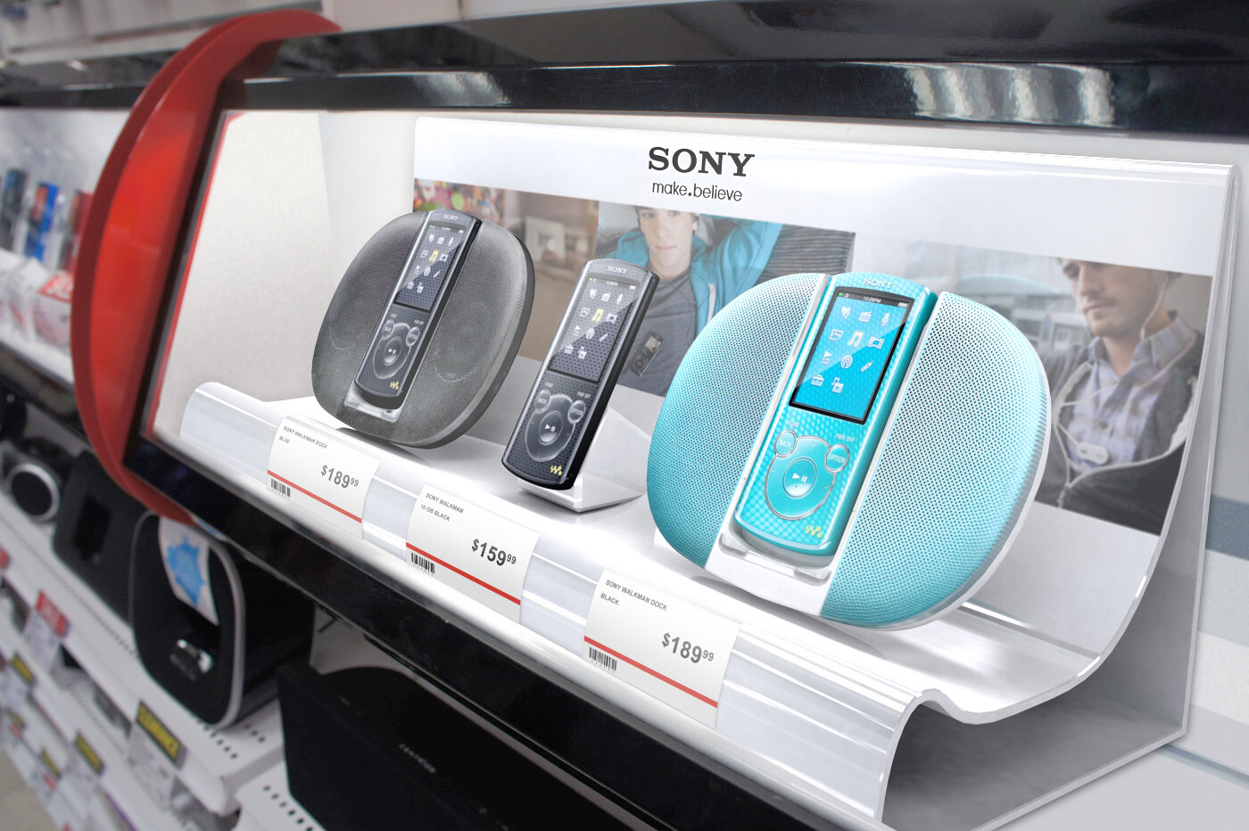 Sony Personal Audio In-Store Display for The Source