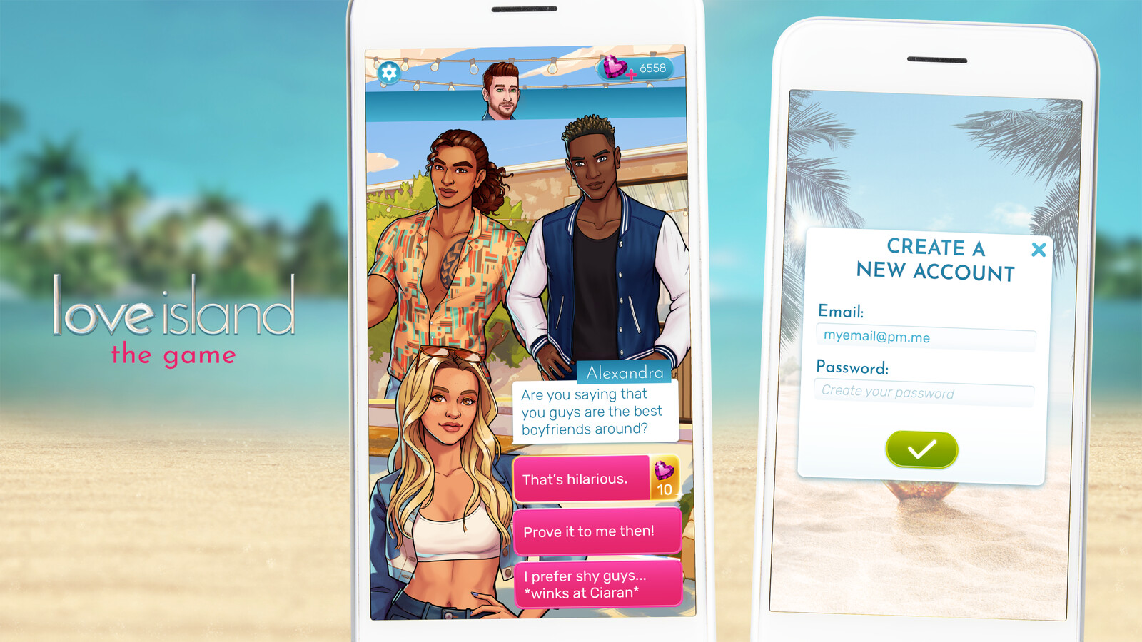 Love Island: The Game UI/UX Redesign