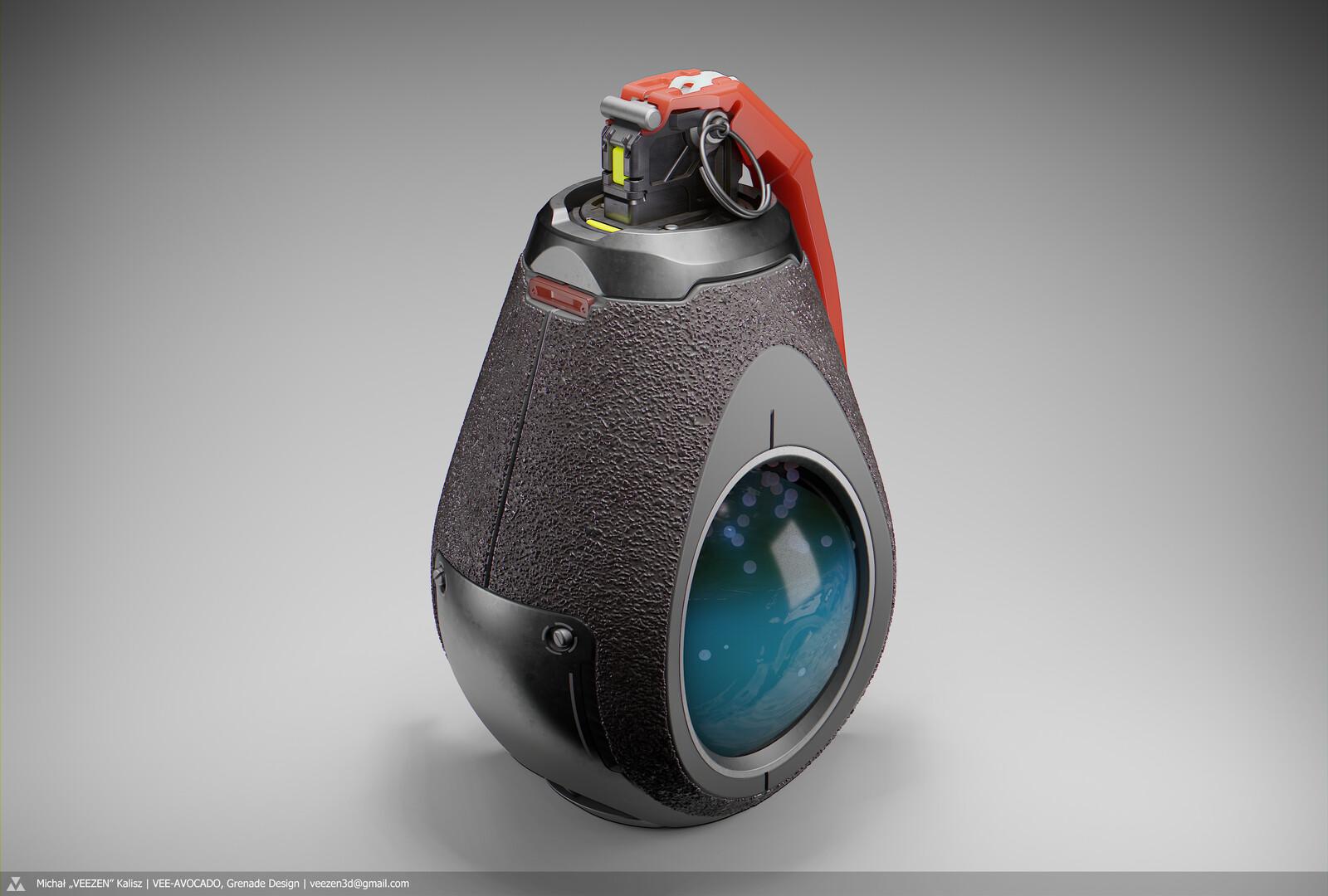 VEE-AVOCADO, Grenade Design