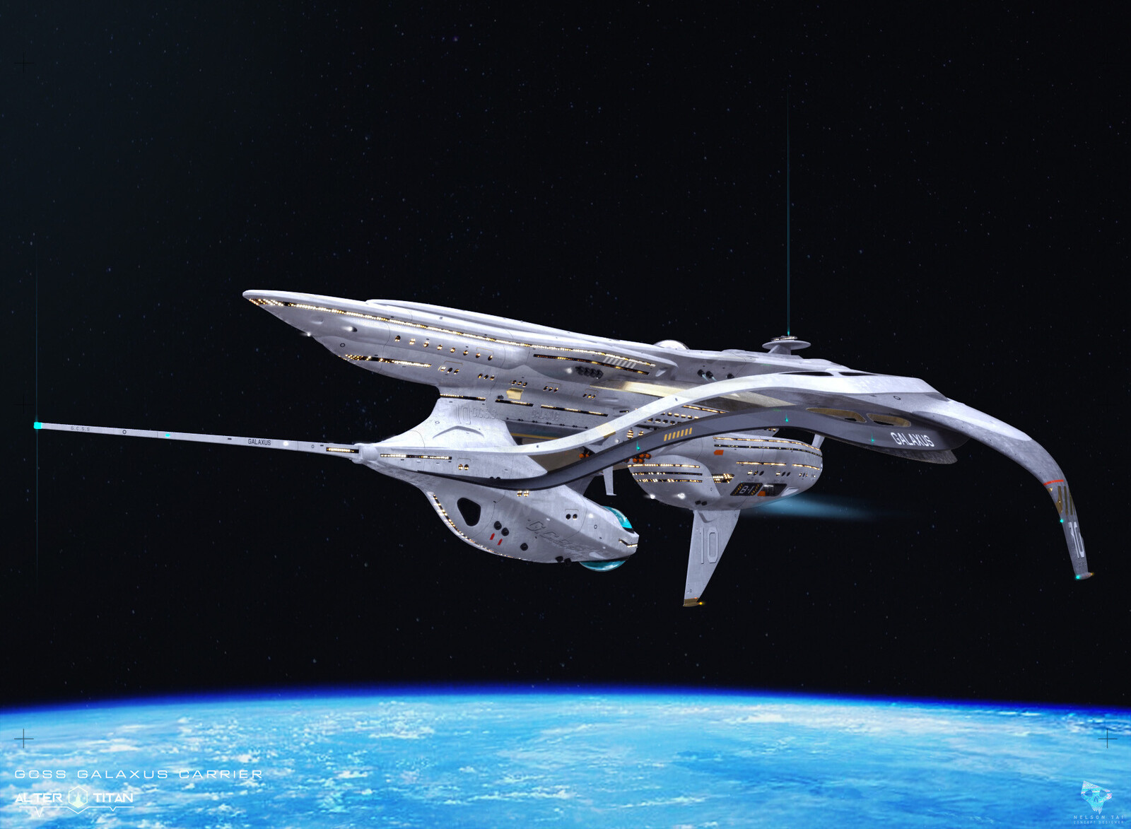 GCSS Galaxus Carrier Ship - where your Titans will train and travel!