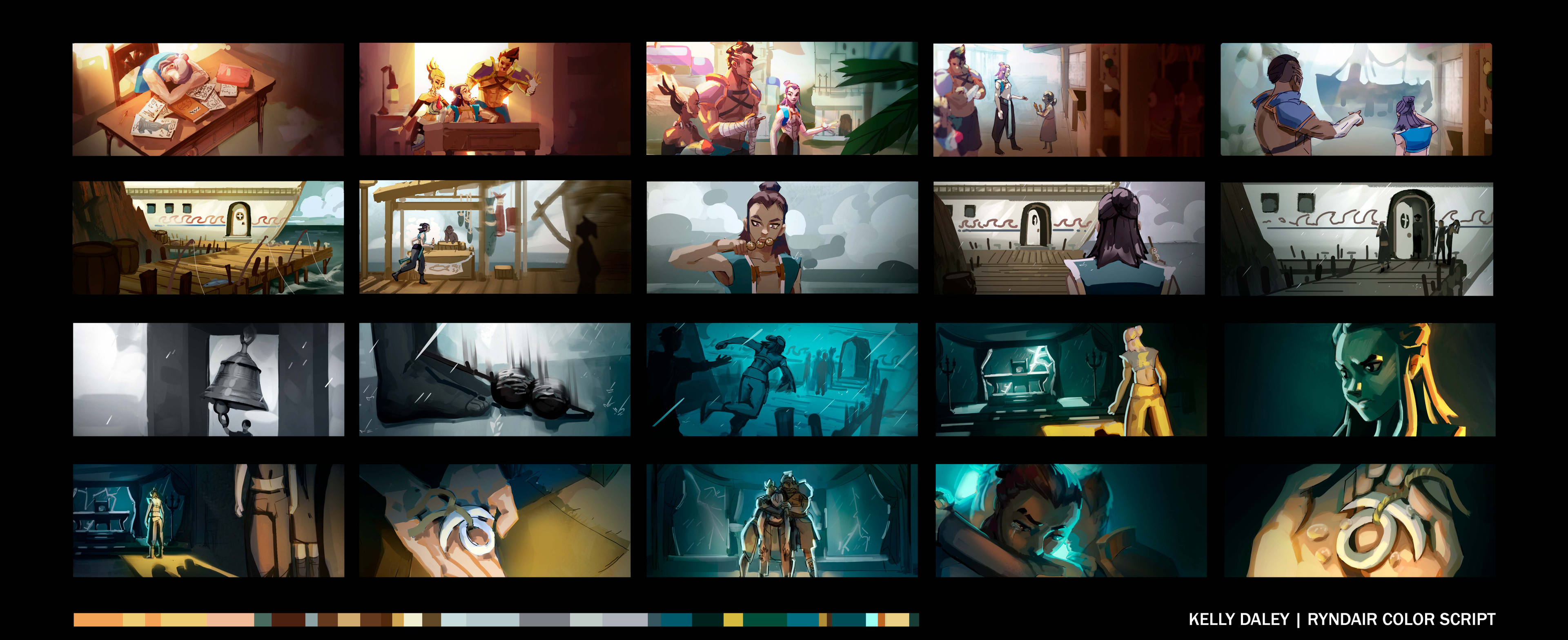 Color Script for a scene within the Ryndair universe.