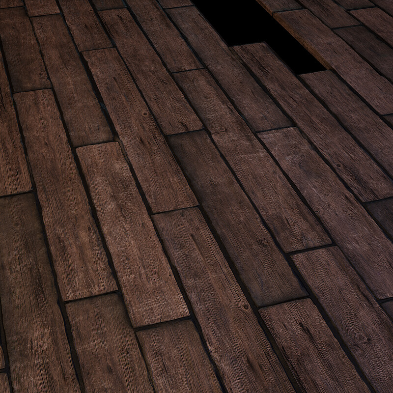 Floor Wood Material - Horror Bedroom