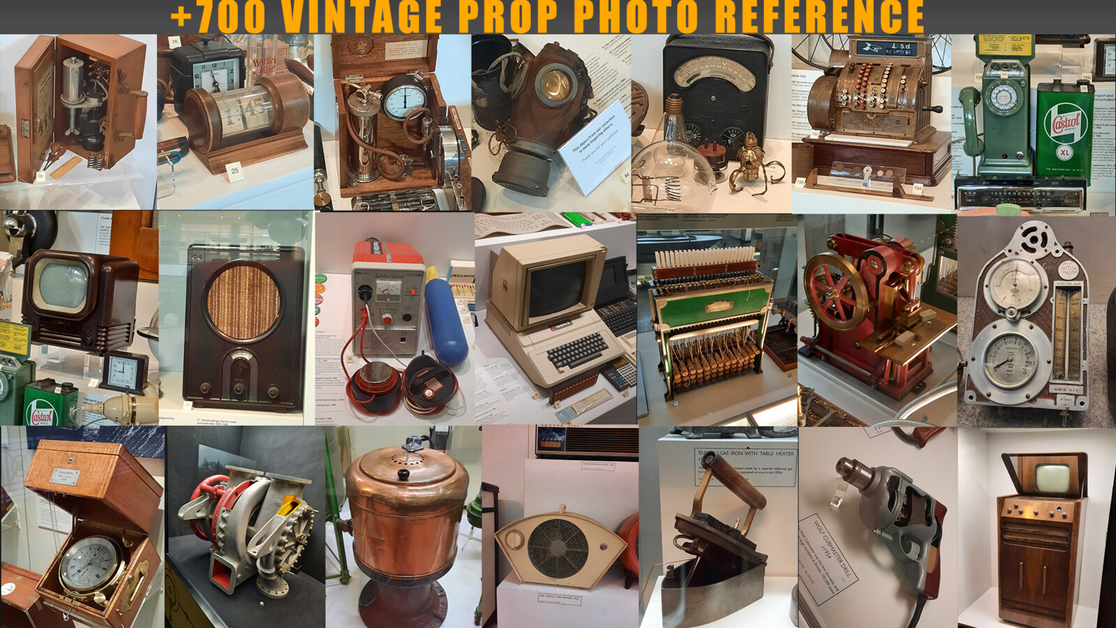 +700 Vintage prop photo reference