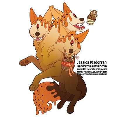 Jessica madorran patreon october 2021 twisted little red riding hood sticker option 02 artstation