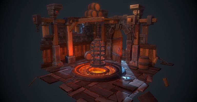 ArtStation - Environment - Hand painted - Dungeon, Florian