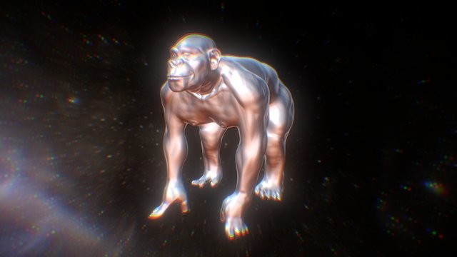 Chimp sculpt in zbrush