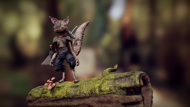 Biomutant universe creature - Timelapse video