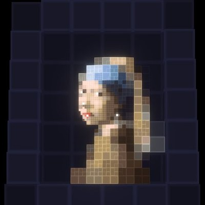 Voxel Girl with a Pearl Earring